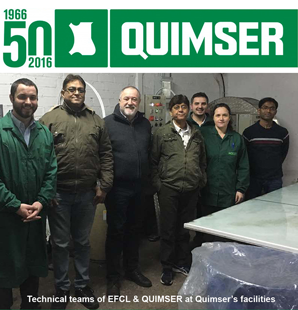 Quimser & EFCL at Quimser's facilities