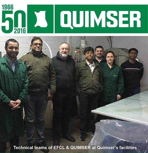 Quimser & EFCL at Quimser's facilities
