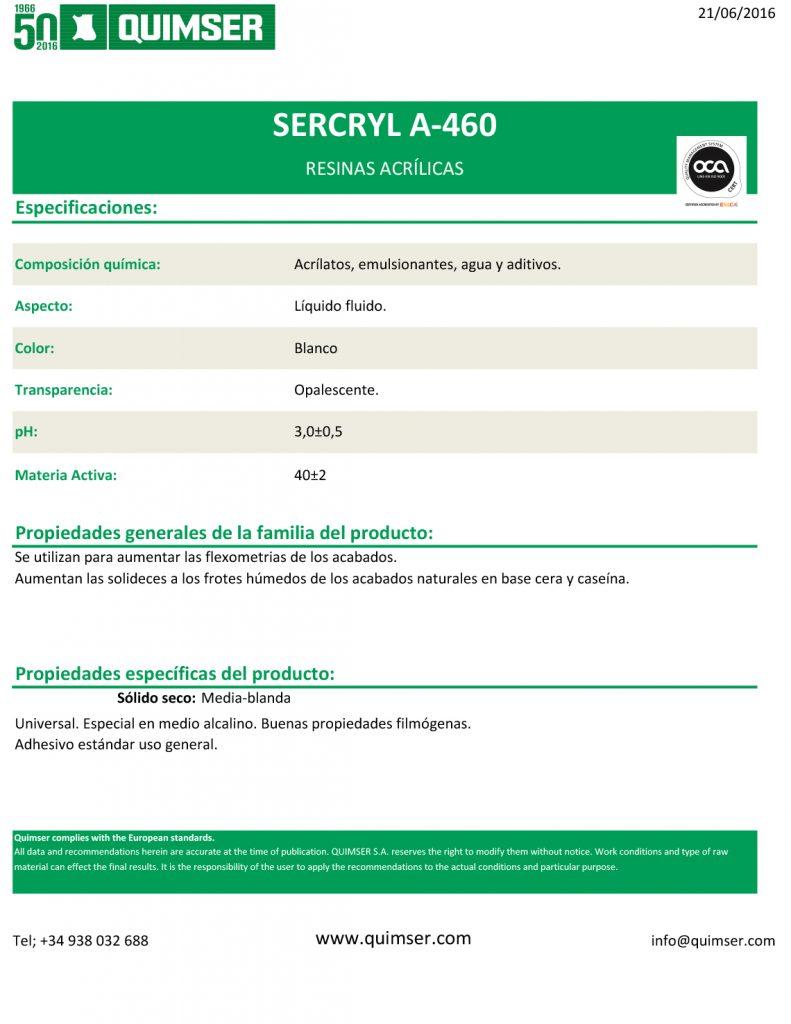Sercryl A-460 esp