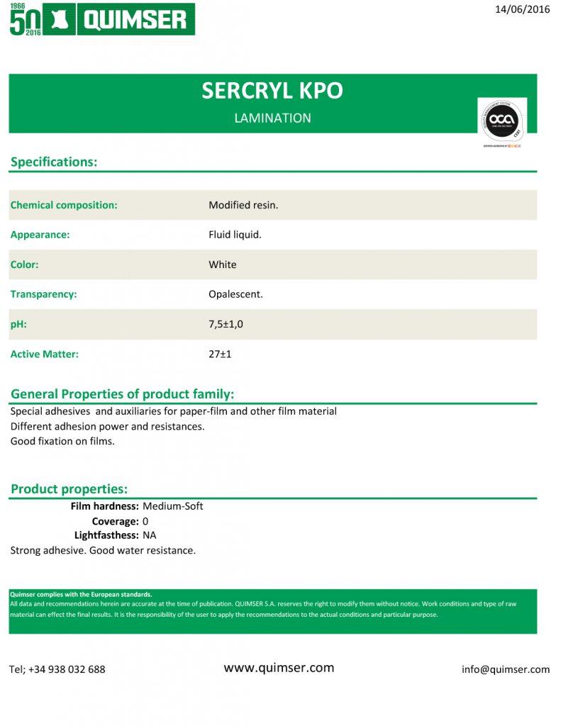 Sercryl KPO eng