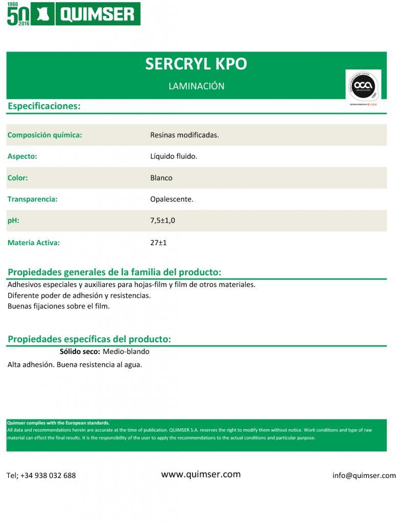 Sercryl KPO esp