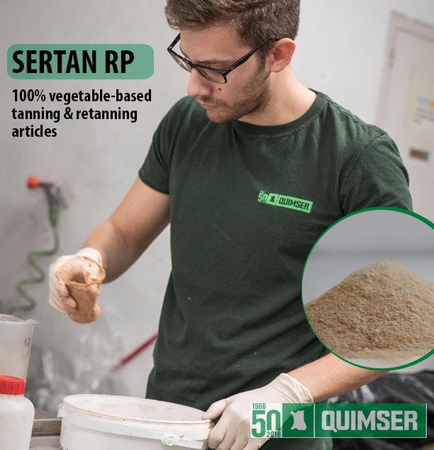 SERTAN RP: 100% vegetable-based tanning & retanning articles