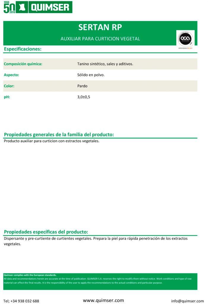 SERTAN RP: Curtición y recurtición 100% vegetal