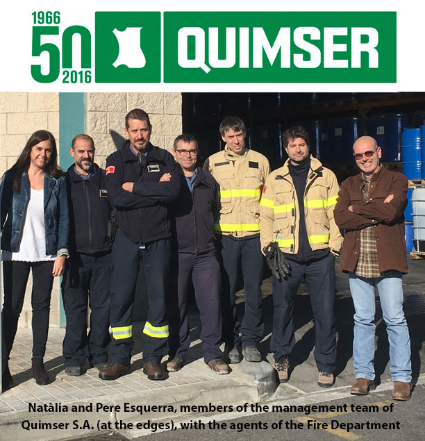 Quimser collaborates with Fire Department to improve safety