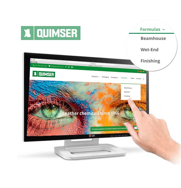 New section: Check our products formula from Quimser's website