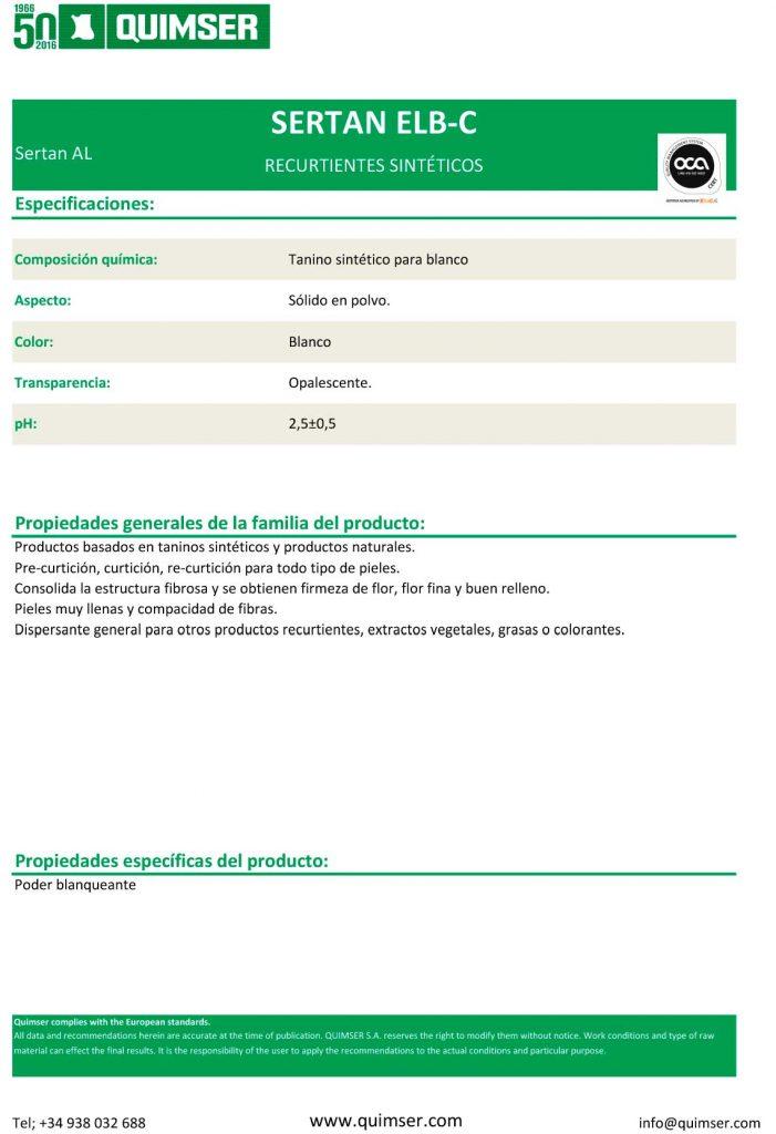 SERTAN ELB-C recurtiente sintético