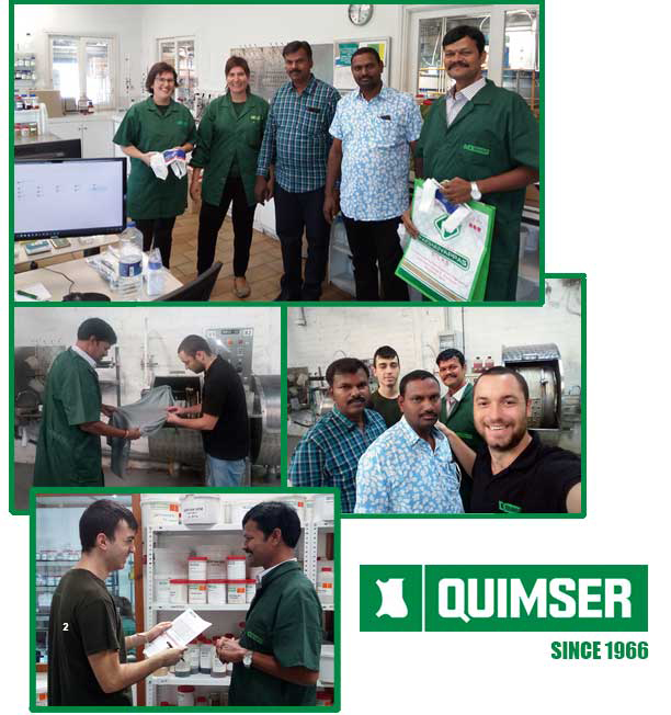 Visit of BLAZE CHIMIE at Quimser's facilities