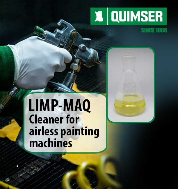LIMP-MAQ cleaner for airless painting machines