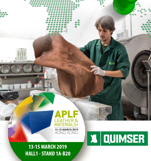WE ARE EXHIBITING AT APLF LEATHER & MATERIALS 2019