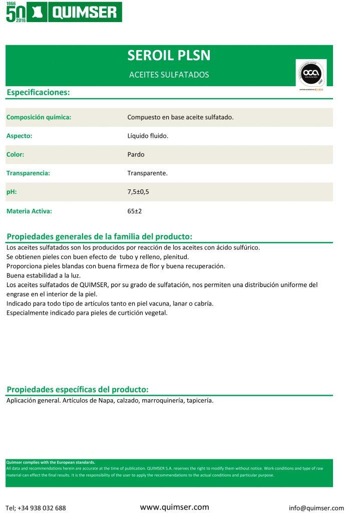 SEROIL-PLSN-TDS-V001-ES