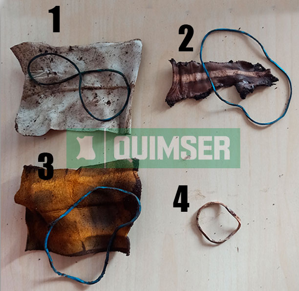 Biodegradability of the leather test # 1