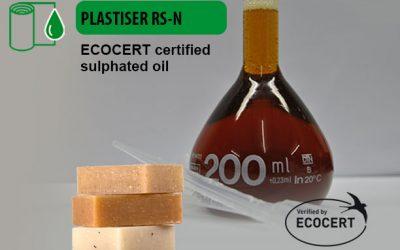 PLASTISER RS-N, aceite sulfatado certificado por Ecocert