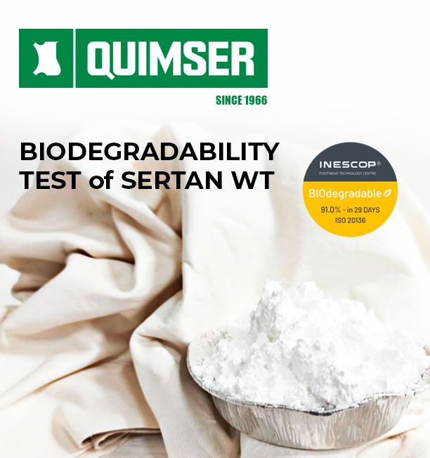 Biodegradability test of SERTAN WT by INESCOP