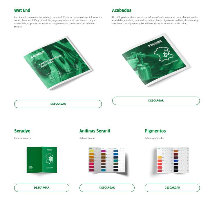 Descargar catálogos de producto de Quimser
